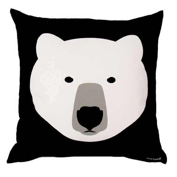 White-bear-black-bear-cushion