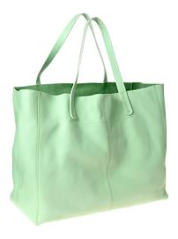Mint leather tote 89.95